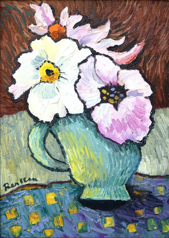 Erik Renssen, Flowers in small pot I, 2020