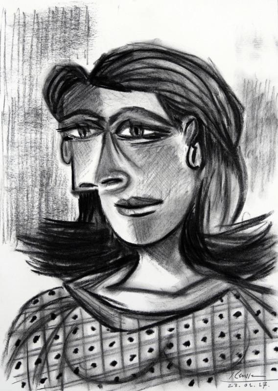 Erik Renssen, Face of a woman, 2017