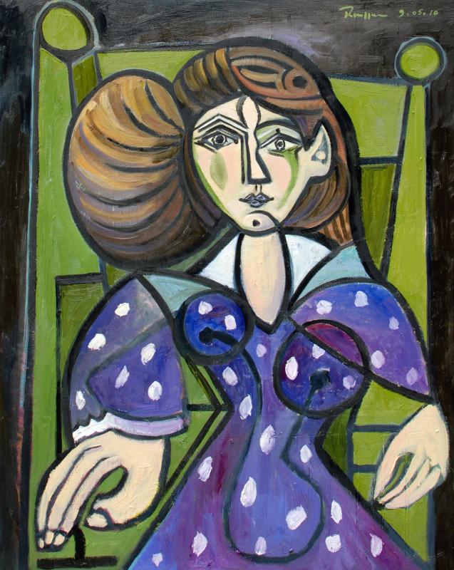 Erik Renssen, M / Woman in a purple dress, 2010