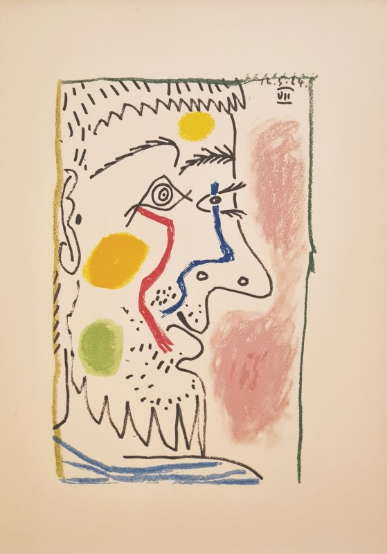 Pablo Picasso, Face of a man VII, 64, 1970