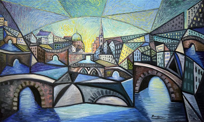 Erik Renssen, The canals of Amsterdam (II), 2020
