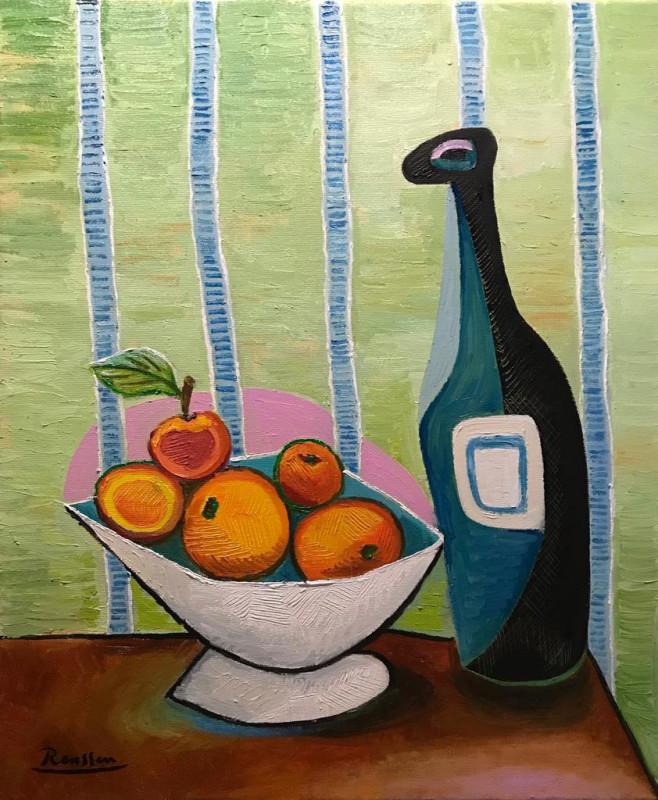 Erik Renssen, S/M / Oranges and bottles, 2019