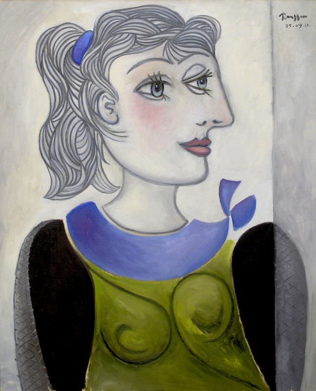 Erik Renssen, Woman with a ponytail II, 2011