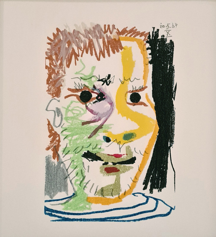 Pablo Picasso, Face of a boy X, 1964, 1970