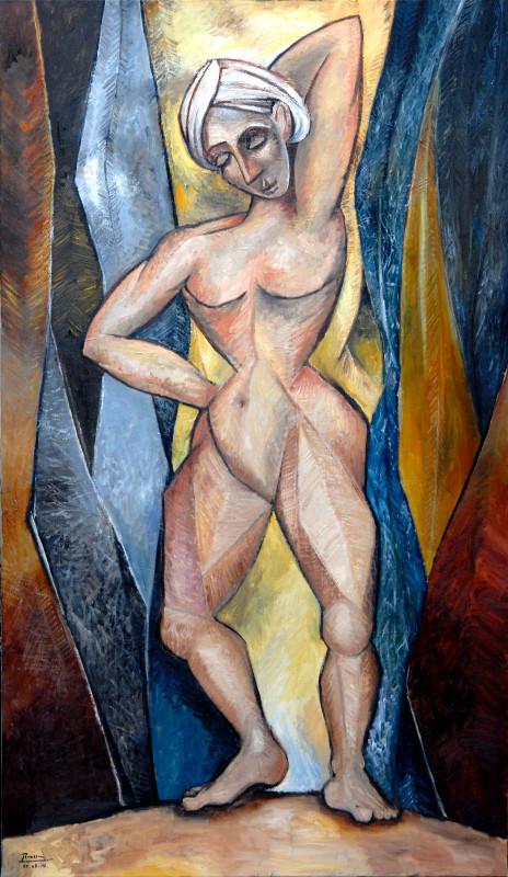 Erik Renssen, XL / Nude between curtains, 2014