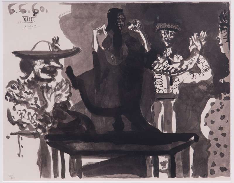 Pablo Picasso, Flamengo dancer on table and picador, 1960