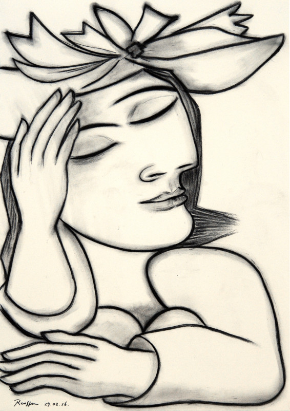 Erik Renssen, Woman daydreaming, 2016