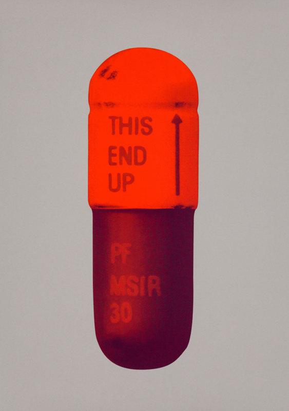 Damien Hirst, The Cure - Battleship Grey/Fizzy Orange/Berry