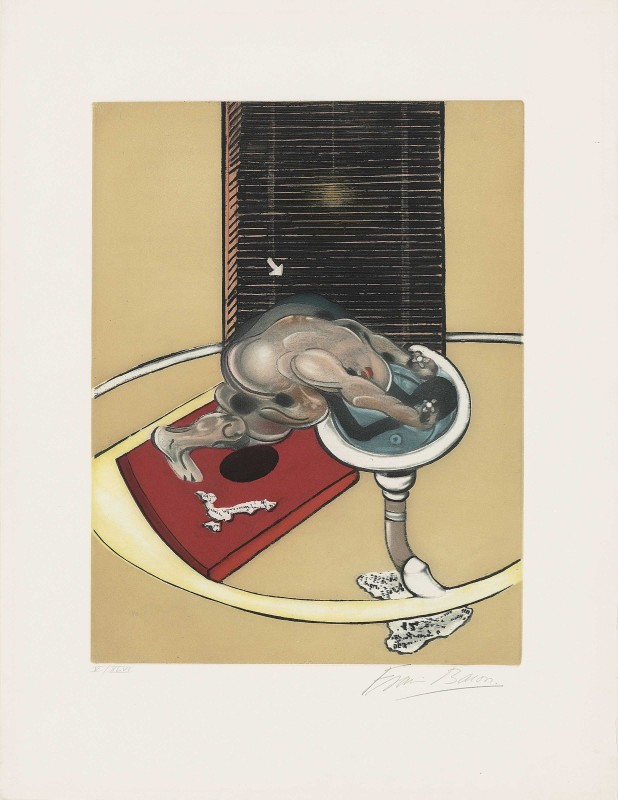 Francis Bacon, Figure at a Washbasin