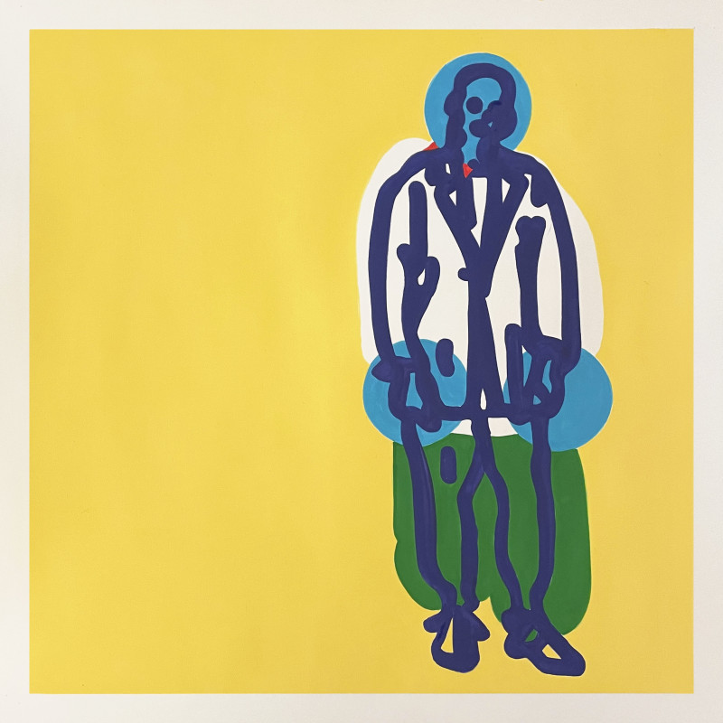 Toby Neilan, Figure on Yellow, 2021