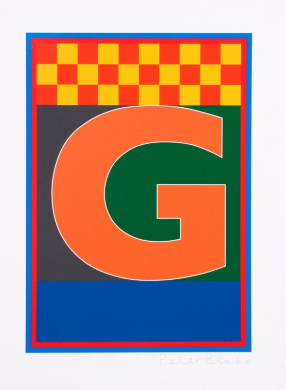 Peter Blake, Dazzle Alphabet - G