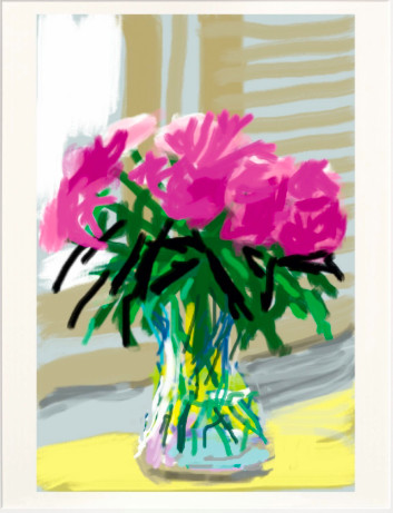 David Hockney, iPhone drawing 'No. 535', 28th June 2009, 2020