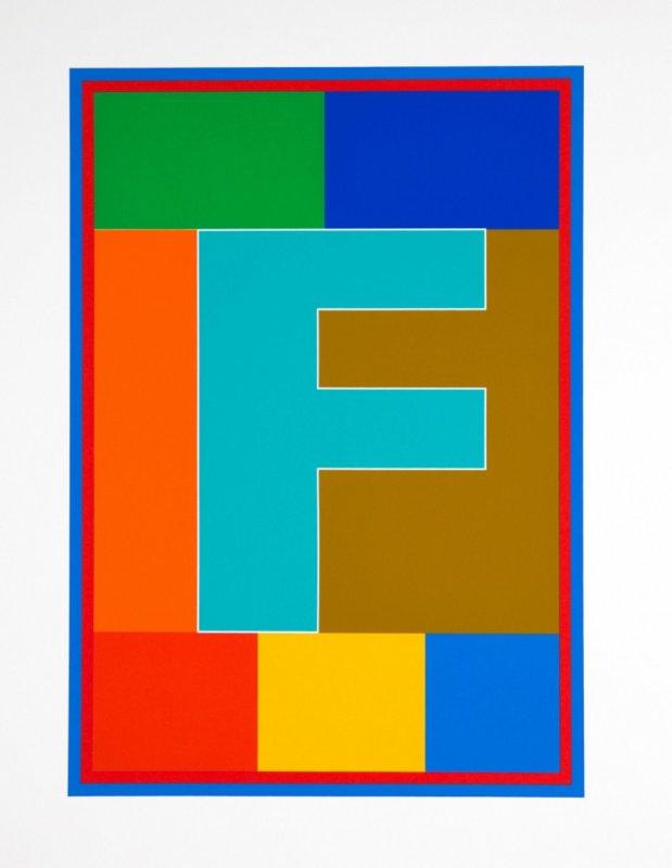 Peter Blake, Dazzle Alphabet - F