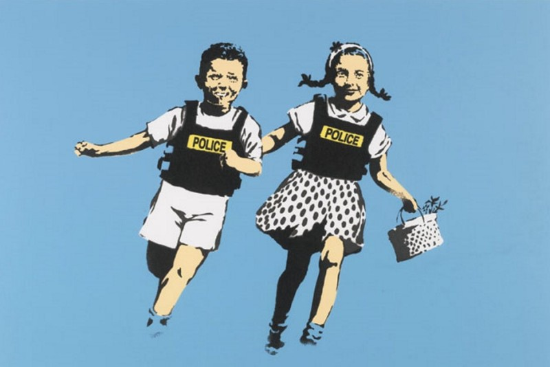 Banksy, Police Kids (Jack and Jill)