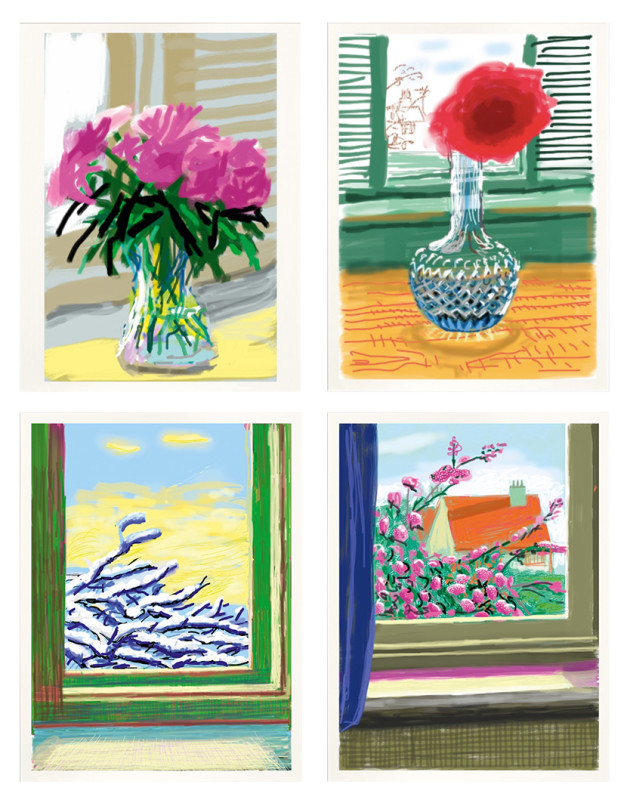 David Hockney, My Window (Set of 4), 2019