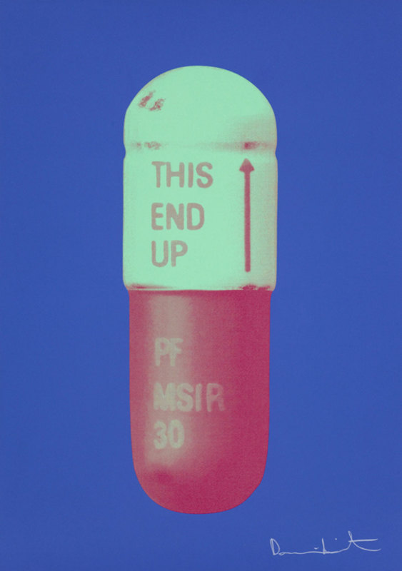 Damien Hirst, The Cure - Iris Blue/Chalk Green/Charm Pink