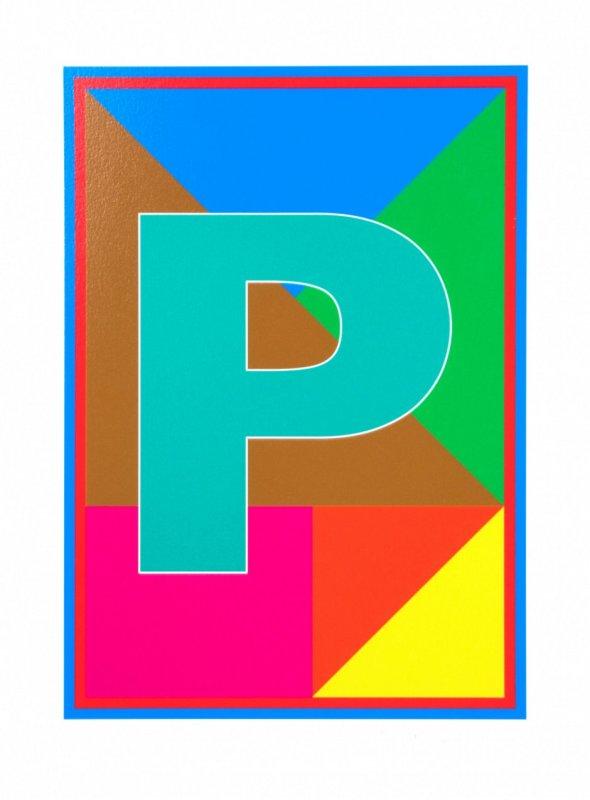 Peter Blake, Dazzle Alphabet - P