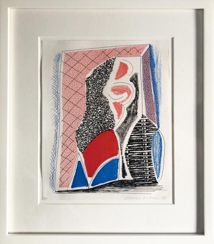 David Hockney, Red Blue and Wicker, 1986