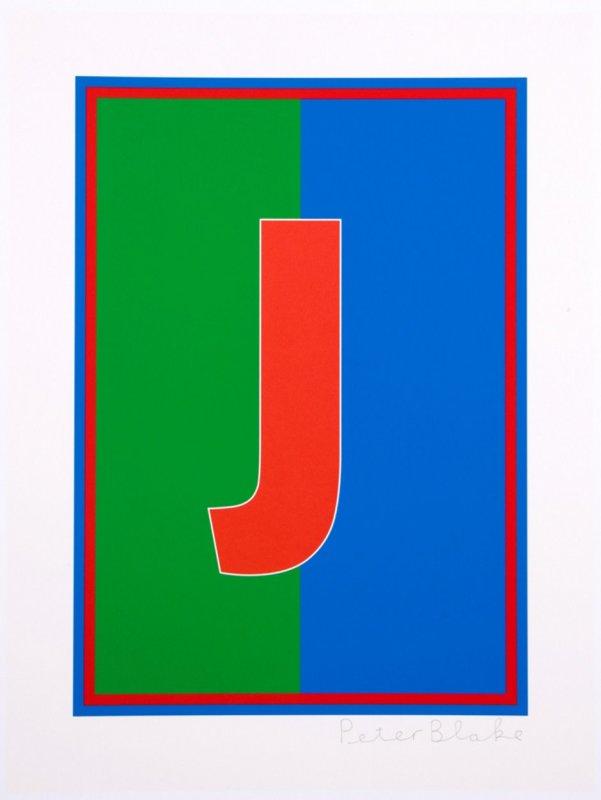 Peter Blake, Dazzle Alphabet - J