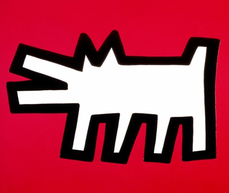 Keith Haring, Red Dog (Icons), 1990