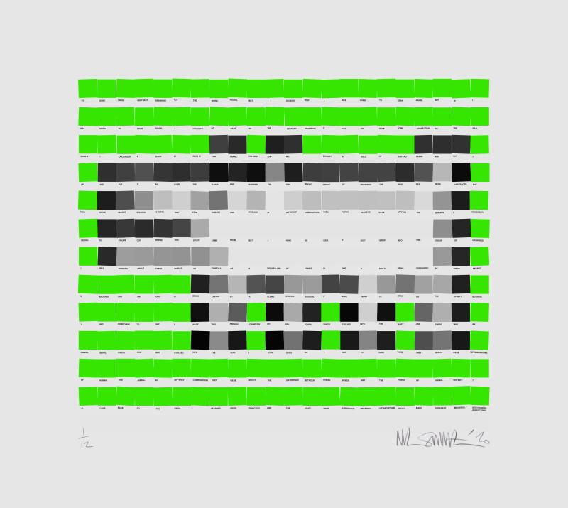 Nick Smith, Haring Dog - Green, 2020