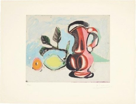 Pablo Picasso, Nature Morte Au Citron Et Pichet Rouge (Still Life with Lemon and Red Pitcher)