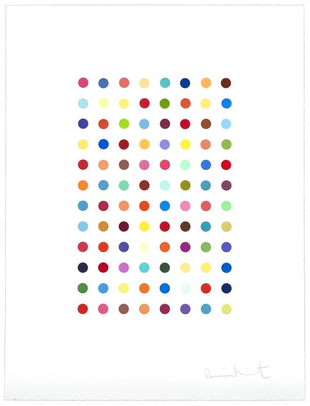 Damien Hirst, Xylene Cyanol Dye Solution, 2005