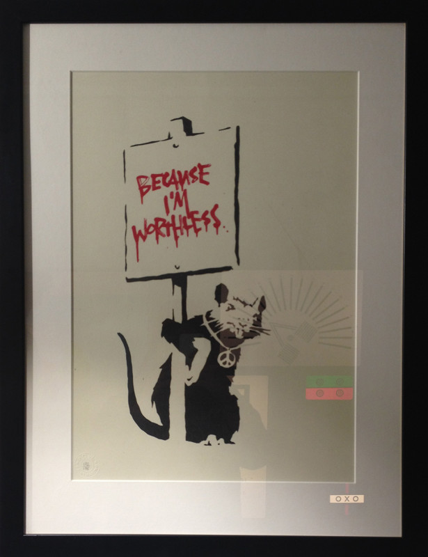 Banksy, Because I'm Worthless