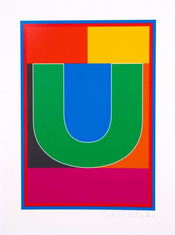 Peter Blake, Dazzle Alphabet - U