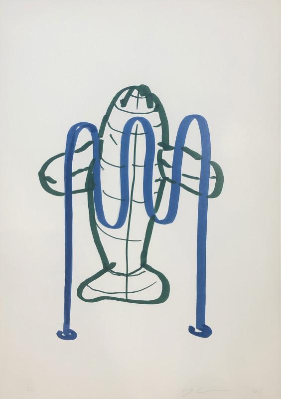 Jeff Koons, Dolphin (Bicycle Rack), 2006