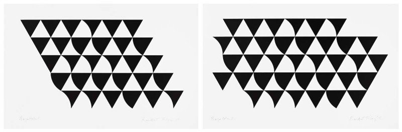 Bridget Riley, Bagatelle 1 and Bagatelle 2