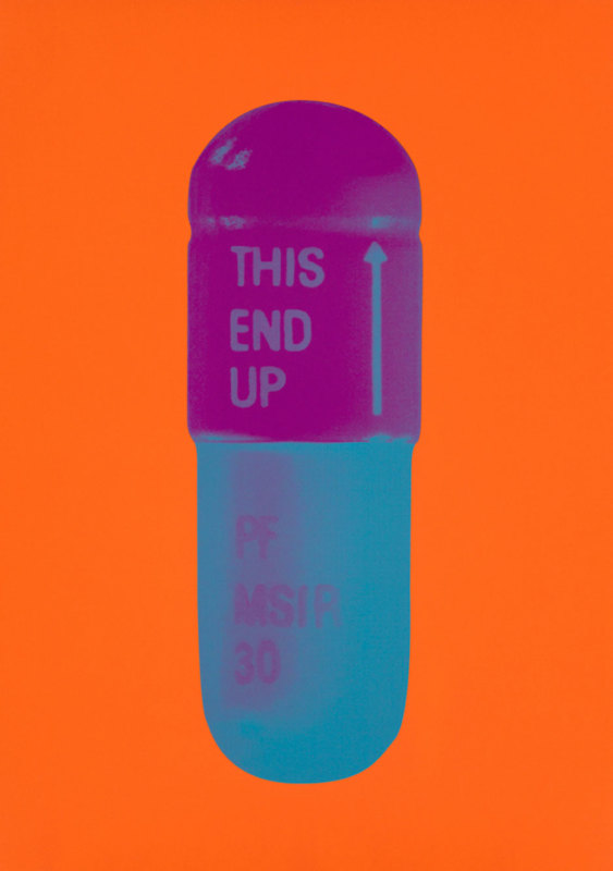 Damien Hirst, The Cure - Bright Orange/Orchid/Air Force Blue