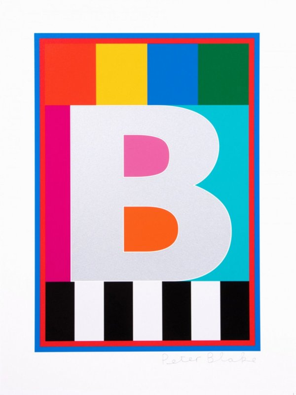 Peter Blake, Dazzle Alphabet - B