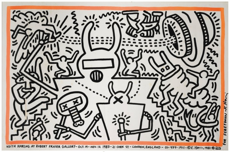Keith Haring, Robert Fraser Gallery Poster, 1983