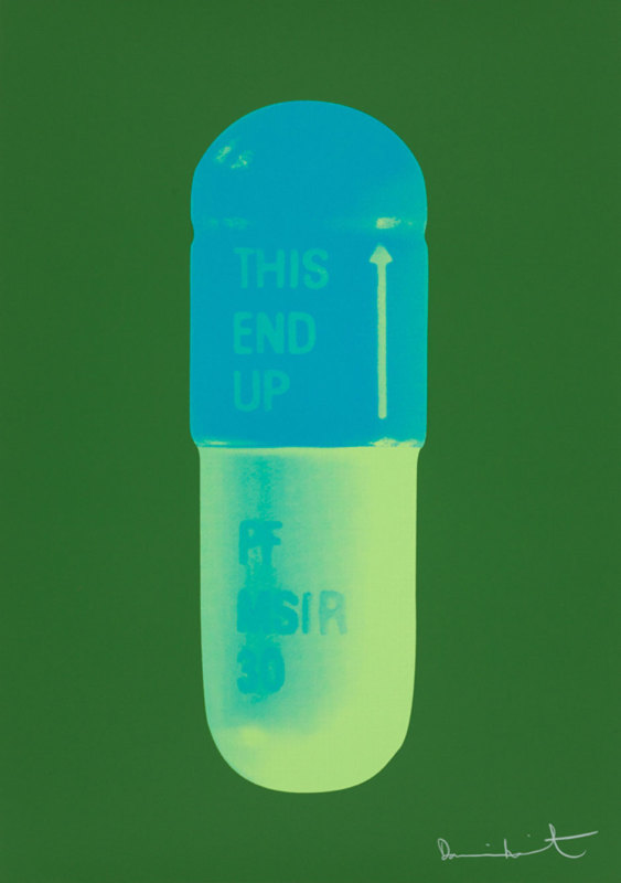 Damien Hirst, The Cure - Forest Green/Turquoise/Acid Green