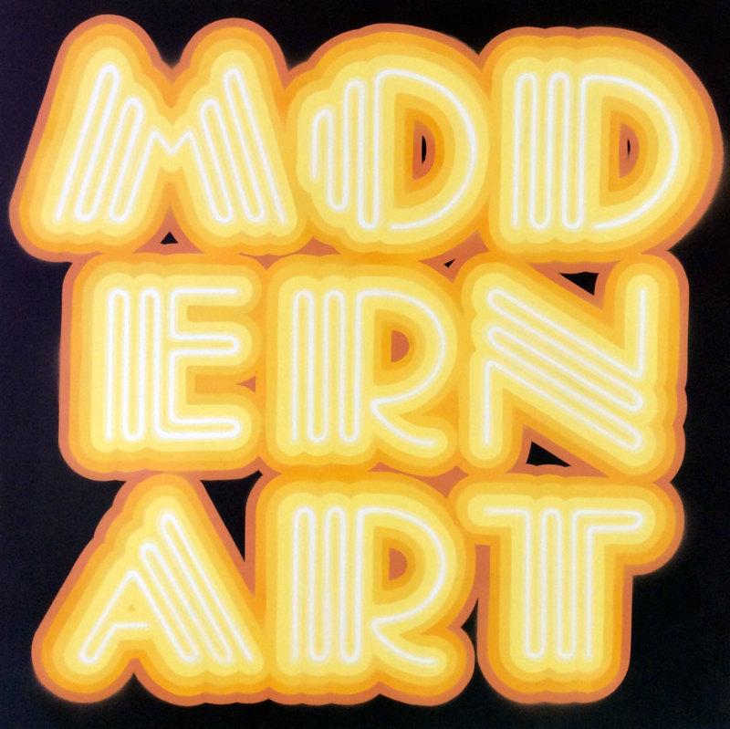 Ben Eine, Modern Art- Neon Yellow