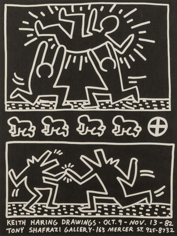 Keith Haring, Tony Shafrazi Gallery Poster, 1982