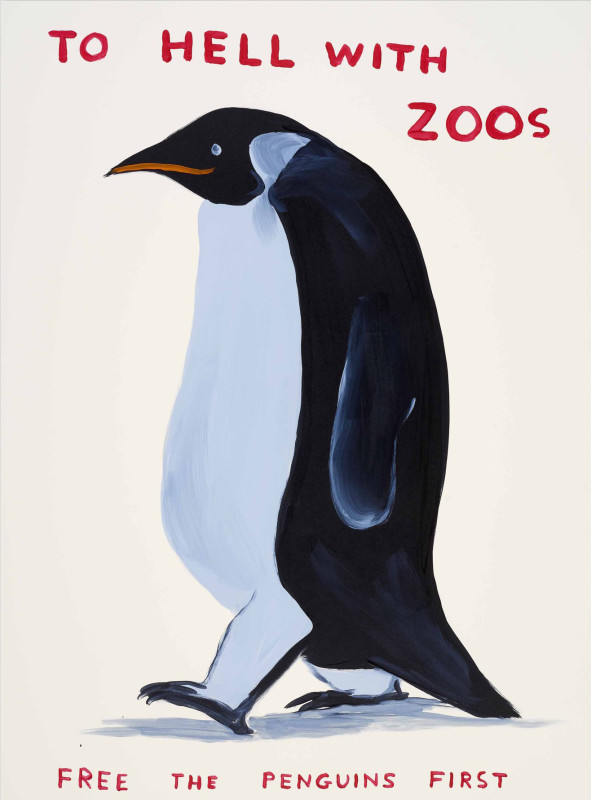 David Shrigley, To Hell With Zoos, 2021