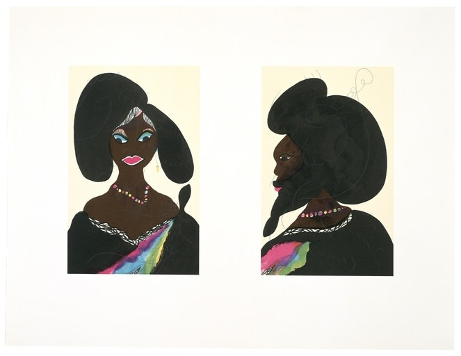 Chris Ofili, Afro Harlem Muses, 2005