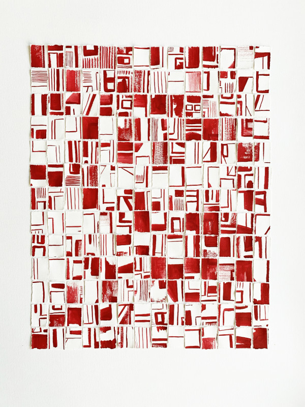 Claire Witteveen, Mind Games no.4 in Red, 2020
