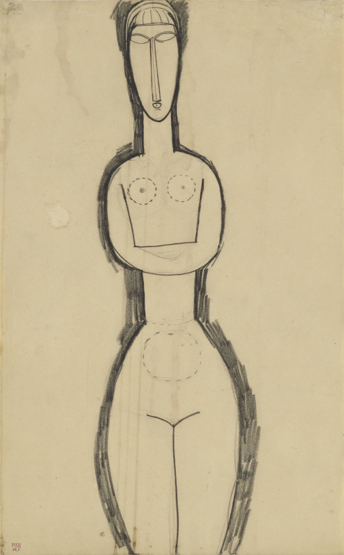 Amedeo Modigliani, Study for Standing Nude Sculpture, c.1911