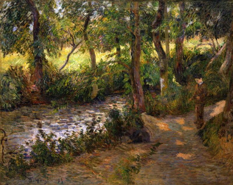 Paul Gauguin, La Sente du Père Jean, 1885