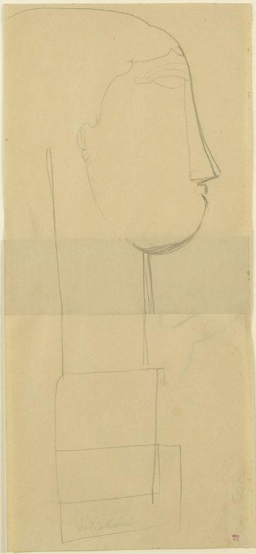 Amedeo Modigliani, Head, Right Profile on a Plinth, c.1911