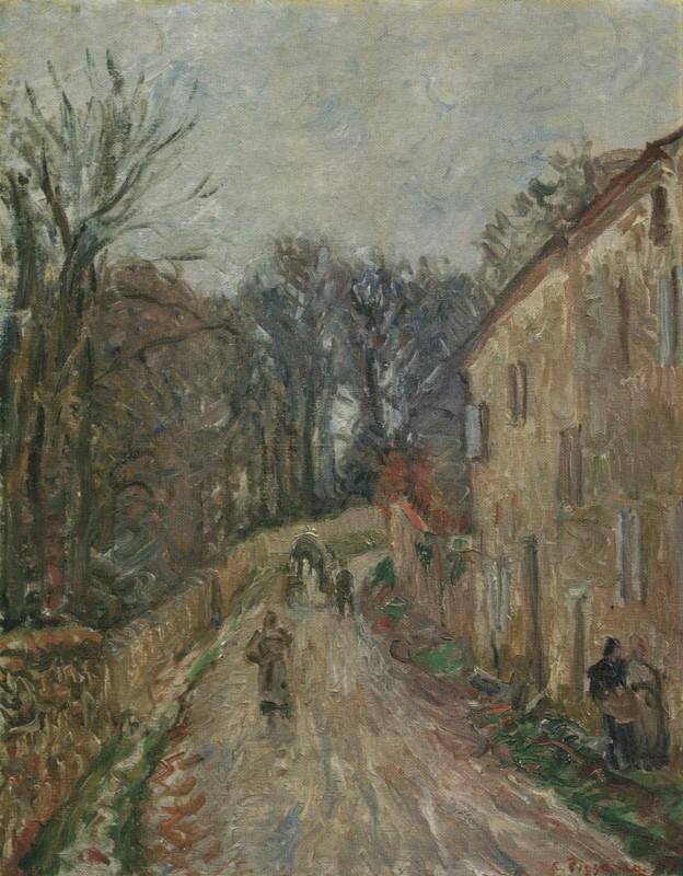 Camille Pissarro, La Rue de Pontoise a Osny, 1883