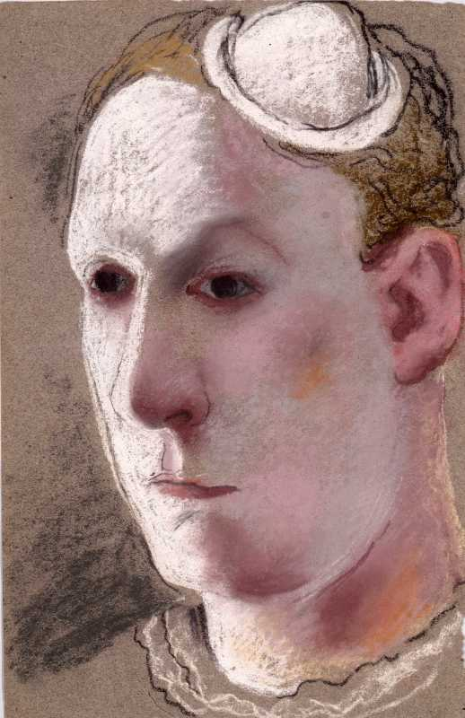 Pavel Tchelitchew, Clown-self Portrait, 1925