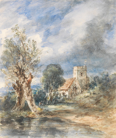 John Constable, Stoke Poges Church, 1834