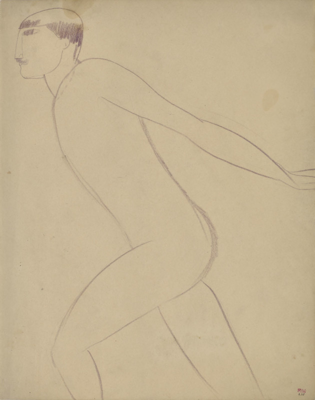 Amedeo Modigliani, Acrobat in Profile, c.1910-11