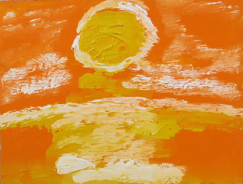 Albert Houthuesen, Yellow Sun Over Sea, 1975