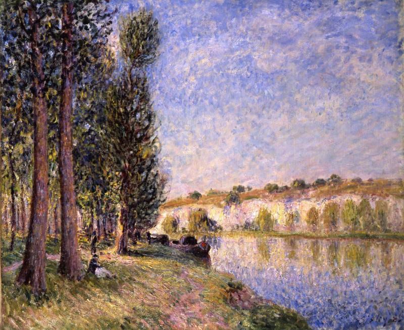 Alfred Sisley, Aux Bords de la Seine, 1885