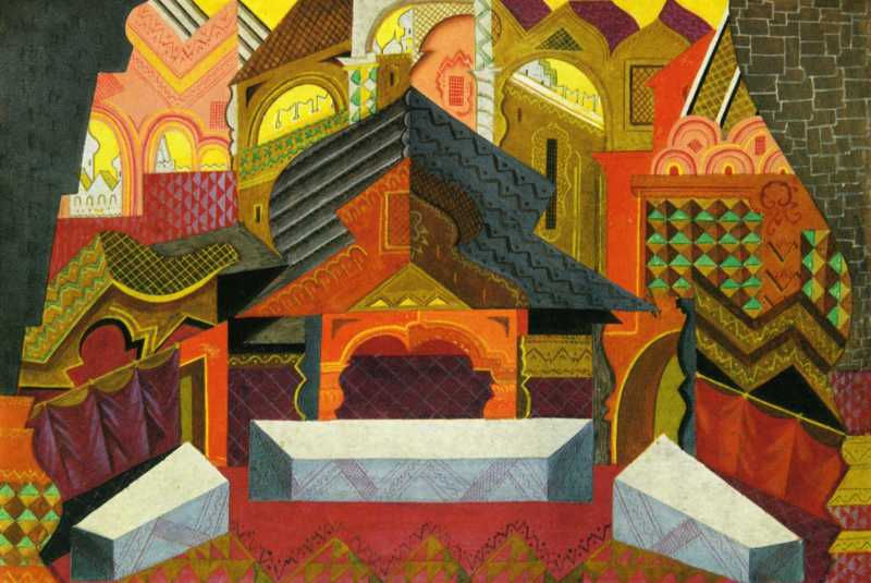Pavel Tchelitchew, Design for the Wedding Feast of the Boyar